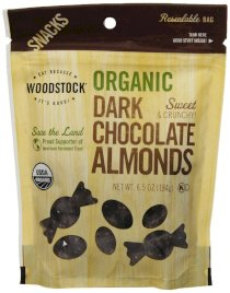 Woodstock Organic Dark Chocolate with Almonds, 6.5 Ounce