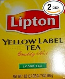 Lipton Yellow Label Loose Tea, 32-Ounce Boxes (Pack of 2)