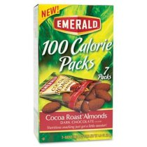 Emerald 100 Calorie Pack Dark Chocolate Cocoa Roast Almonds, .63 oz Packs, 7 Packs/Box