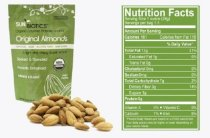 Sunbiotics is a Gourmet Vegan Probiotic Almond Snacks: 12/1.5 oz Pouches of Original