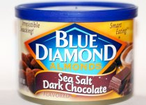 Blue Diamond Almonds Sea Salt Dark Chocolate 6oz Can
