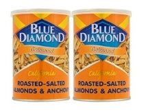 Blue Diamond Calmond Roasted-salted Almonds & Anchovy 110g ( Pack of 2 )