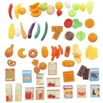 Just Like Home 85-Piece Play Food Set - Yellow