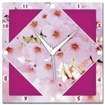Amore Cherry Blossom 107527 Analog Wall Clock (Multicolor)