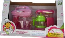Pretend Make Coffee and Cookies Play Set Includes a 4 X 4 X 2 Inches Coffee Maker and a 4 X 4 X 2 Inches Mixer in a See Through Window Gift Box