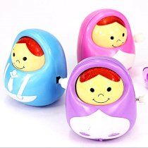 1 Mix Cute Girl Nod Doll Clockwork Play Toy Collectable Gift Kids Child Party Favors