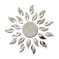 Bessky(TM) 2014 New Luxury 3D Sun flower Home Decor Bell Cool Mirrors Wall Stickers (Sliver)