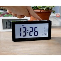 JCC Smartlight Light Sensor Large LCD Theremometer (only °C) Calendar Bedside Desk Alarm Clock (Black)