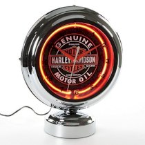 Harley-Davidson Genuine Oil Can Table Top Neon Clock HDL-16621