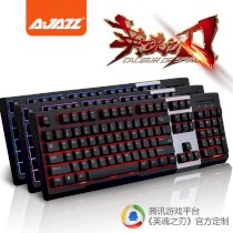 Ajazz AK10 Tri-Color LED Backlit Gaming Keyboard Machanical Hand Feel