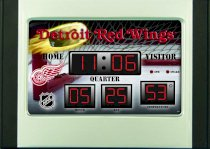 Detroit Red Wings Alarm Clock Desk Scoreboard