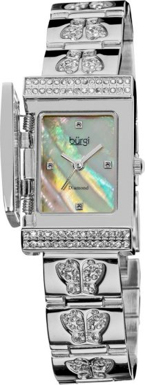 Burgi Women's Diamond Cover Japanese Watch, 22x36mm 61118
