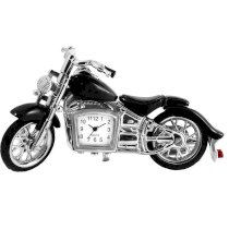 Miniature Black Indian Style Motorbike Novelty Collectors Clock