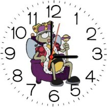 Ellicon B137 Funny Queen Bee Analog Wall Clock (White)