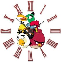 Ellicon B64 Angry Birds Analog Wall Clock (White)