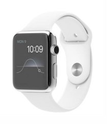 Đồng hồ thông minh Apple Watch 42mm Stainless Steel Case with White Sport Band