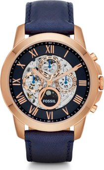 Fossil Men's Grant Automatic Leather Watch 44mm 64966