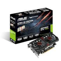 Asus STRIX-GTX750TI-OC-2GD5 (NVIDIA GeForce GTX 750 Ti, GDDR5 2GB, 128-bit, PCI Express 3.0)