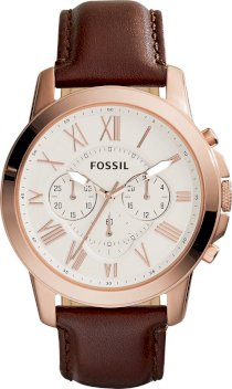 Fossil Men's Chronograph Grant Brown Watch 44mm  65178