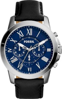 Fossil Men's Grant Chronograph Leather Watch 44mm 65004