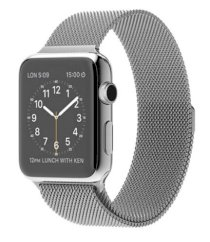 Đồng hồ thông minh Apple Watch 38mm Stainless Steel Case with Milanese Loop