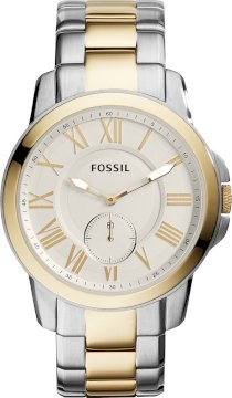 Fossil Men's Chronograph Grant Two-Tone Watch 44mm 65275