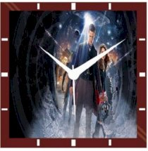 Moneysaver Time of the Doctor Analog Wall Clock (Multicolour)