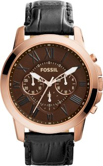 Fossil Men's Chronograph Grant Croc-Embossed Watch 44mm 65263