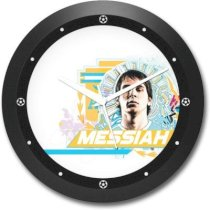 Shop Mantra Lionel Messiah Argentina Football Round Analog Wall Clock (Black)