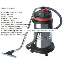 Prochemicals HT-30L stainless steel wet and dry vacuum cleaner
