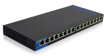 Linksys LGS116P 16-Port Desktop Gigabit PoE Switch