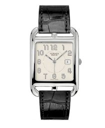 Hermes Midsize Stainless Steel Leather 33mm X 33mm 63748