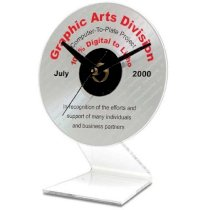 CD Clock Kit with Acrylic Stand (No CD Included)