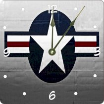 "Rikki KnightTM United States Air Force Logo Design 6"" Art Desk Clock"