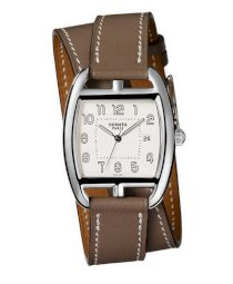 Hermes Midsize Stainless Steel Leather 30mm X 33mm 63742