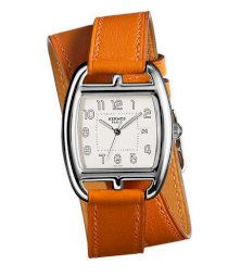 Hermes Midsize Stainless Steel Leather 30mm X 33mm 63743