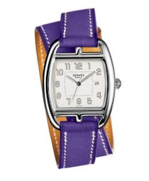 Hermes Midsize Stainless Steel Leather 30mm X 33mm 63746