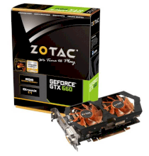 ZOTAC GeForce GTX 660 (ZT-60901-10S) (Nvidia GeForce GTX 660, 2GB DDR5, 192 bit, PCI Express 3.0x16)