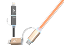 Cable Lightning & MicroUSB Metal 2 in 1