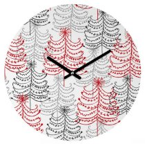 Đồng hồ treo tường Houzz: DENY Designs Rachael Taylor Doodle Trees Round Clock