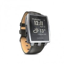 Đồng hồ thông minh Pebble Steel Smart Watch for iPhone and Android Devices (Brushed Stainless)