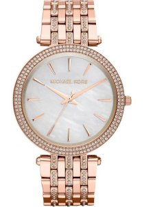 Đồng hồ Women's Rose Golden Stainless Steel Darci Three-Hand Glitz Watch MK3220