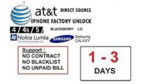 FAST iPhone 6 6+ (PLUS) Factory Unlock Service for ATT AT&T AT USA Permanent