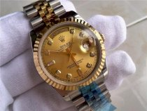 Rolex Day Date Automatic Swiss Watch 18K Gold-Gold Dial Diamond Hour Markers-tainless mặt vàng RS251