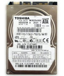 SamSung 80G - 5400rpm 8MB cache - SATAII - 2.5inch for Notebook