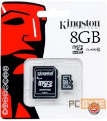 Thẻ nhớ Kingston MicroSD 8GB Class10