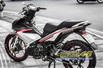 TEM XE EXCITER 150 LIMITED EDITION TRẮNG ĐỎ DO DECAL 46 THỰC HIỆN