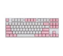 Keyboard Ducky ONE PBT TKL Dyesub Brown switch White-Pink