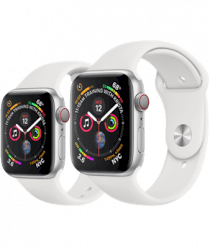 Apple Watch Series 4 (GPS, 40mm Silver Aluminum Case with White Sport Band - MU642)