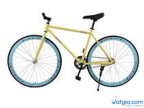 Xe đạp Fixed Gear Air Bike MK78 (vàng)